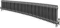 Eastgate Victoriana 3 Column 40 Section Cast Iron Radiator 450mm High x 2442mm Wide - Metallic Finish